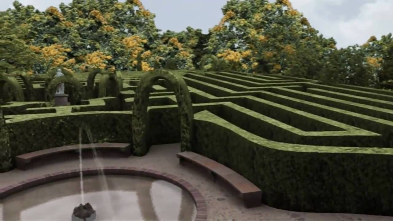 Parque del laberinto de horta youtube for Jardin laberinto