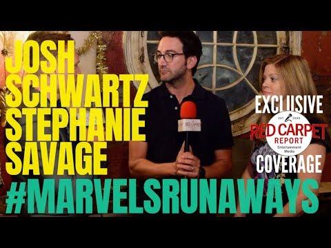 Josh Schwartz & Stephanie Savage interview: #MarvelsRunaways cast/crew for Season 2 #setvisit #Hulu