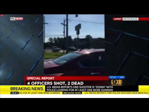 Baton Rouge Shooting Footage