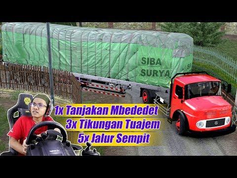 Suasana Paling Bingung Sebagai Sopir Truk Trailer Bagong MercedezBenz