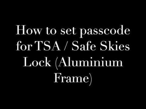 TSA / Safe Skies Aluminium Frame Lock Password Change Steps - Luggage Outlet Singapore