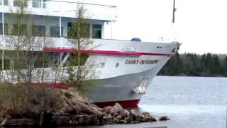 Смотреть видео теплоход санкт петербург