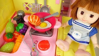 Baby Doll big kitchen cart cooking play baby Doli house
