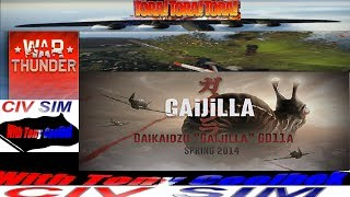 "Dakikaidzu ""Gaijilla"" GDLLA:  Gaint Snail Monster Attacks Pearl Harbor!!! (War Thunder)"