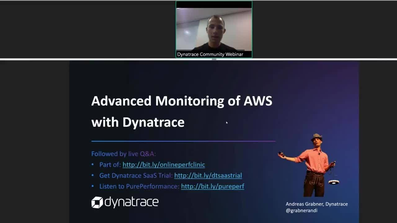 Advanced Monitoring of AWS with Dynatrace