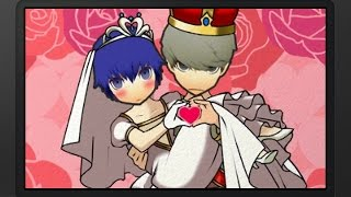 Showing the wedding scene that occurs between the Persona 4 Main Ch...