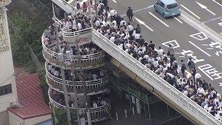 大阪北部地震で交通寸断、家路を直撃 帰宅困難者が橋に殺到