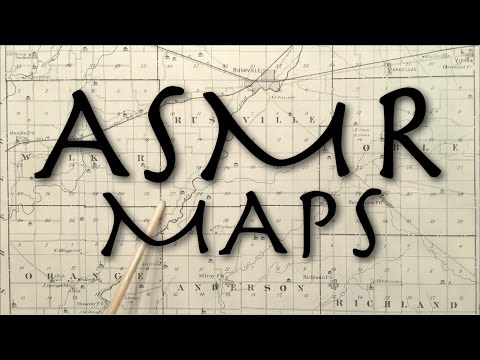 ASMR Maps (soft speaking, tracing, pointing)