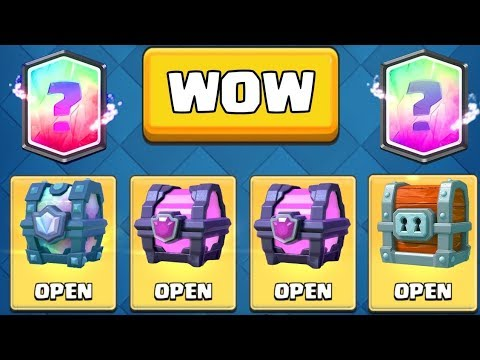 WOW! TWO LEGENDARIES FROM CHESTS :: Clash Royale :: OPENING ALL MY CHESTS + LEGENDARY CHEST!