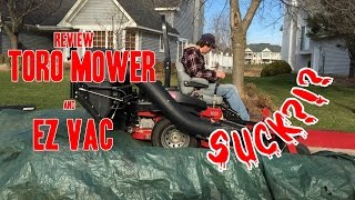 Review -Toro Lawn Mower & EZ Vacuum - Does it suck?!?