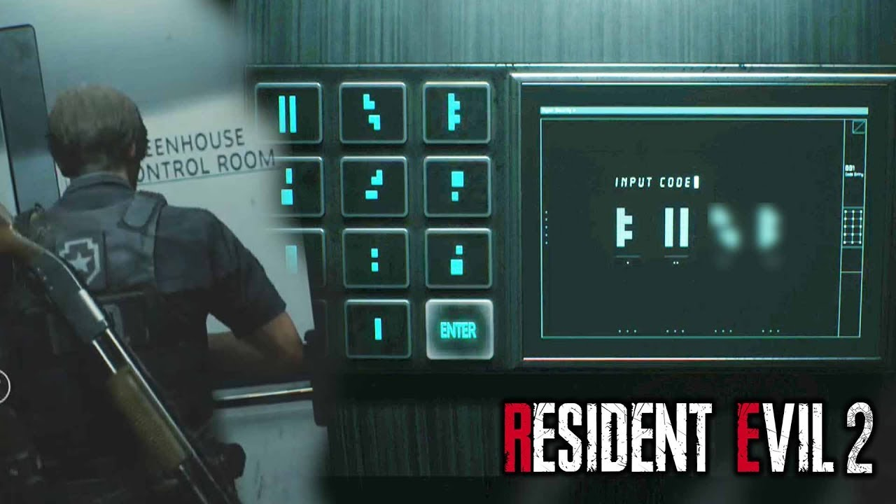greenhouse codes resident evil 2