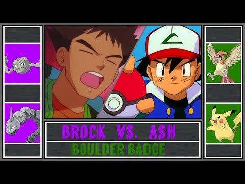 Ash vs. Brock (Pokémon Sun/Moon)  - Boulder Badge/Pewter Gym