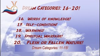 Dream Categories 16-20