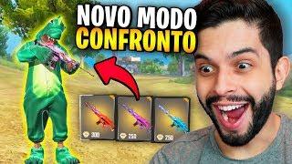 REI DO CONFRONTO?!? FIZ O IMPOSSÍVEL NO NOVO MODO DE JOGO DO FREE FIRE!!!