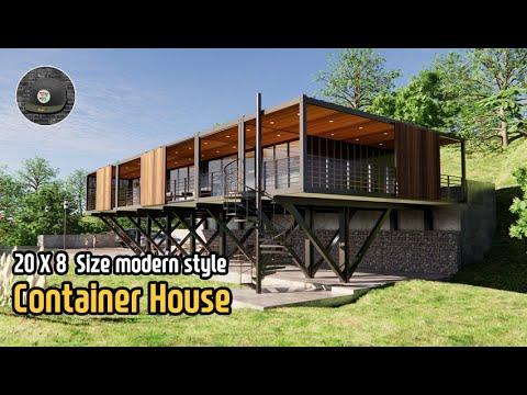 컨테이너하우스_필로티 위에 지은 컨테이너하우스_container house 3D modelling