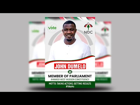 How To Design Election Flyer in Photoshop | Step by Step Tutorial ft. John Dumelo