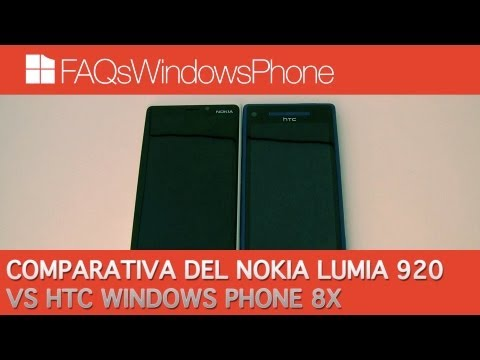 Comparativa del Nokia Lumia 920 vs HTC Windows Phone HTC 8X | FAQsWindowsPhone.com