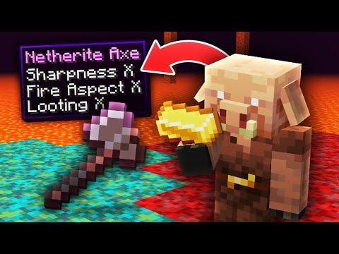 Minecraft, But Piglins Trade OP Items...