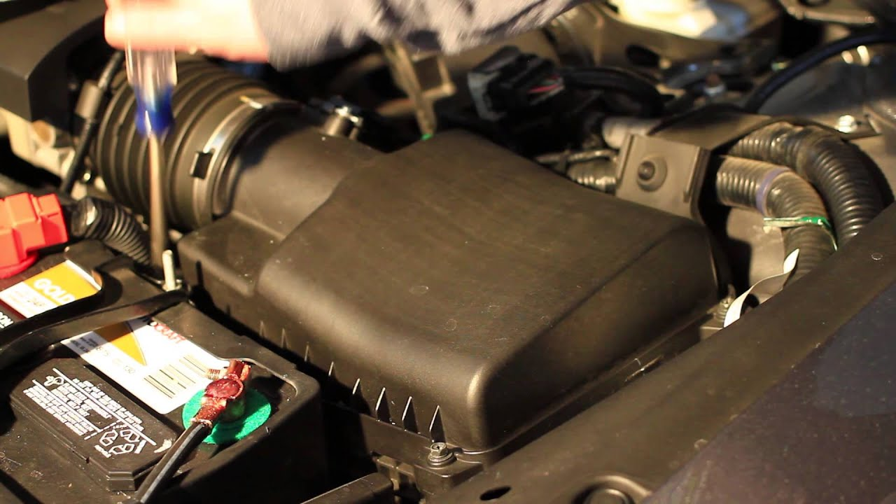 How to change the engine air filter on a 2011 honda crosstour