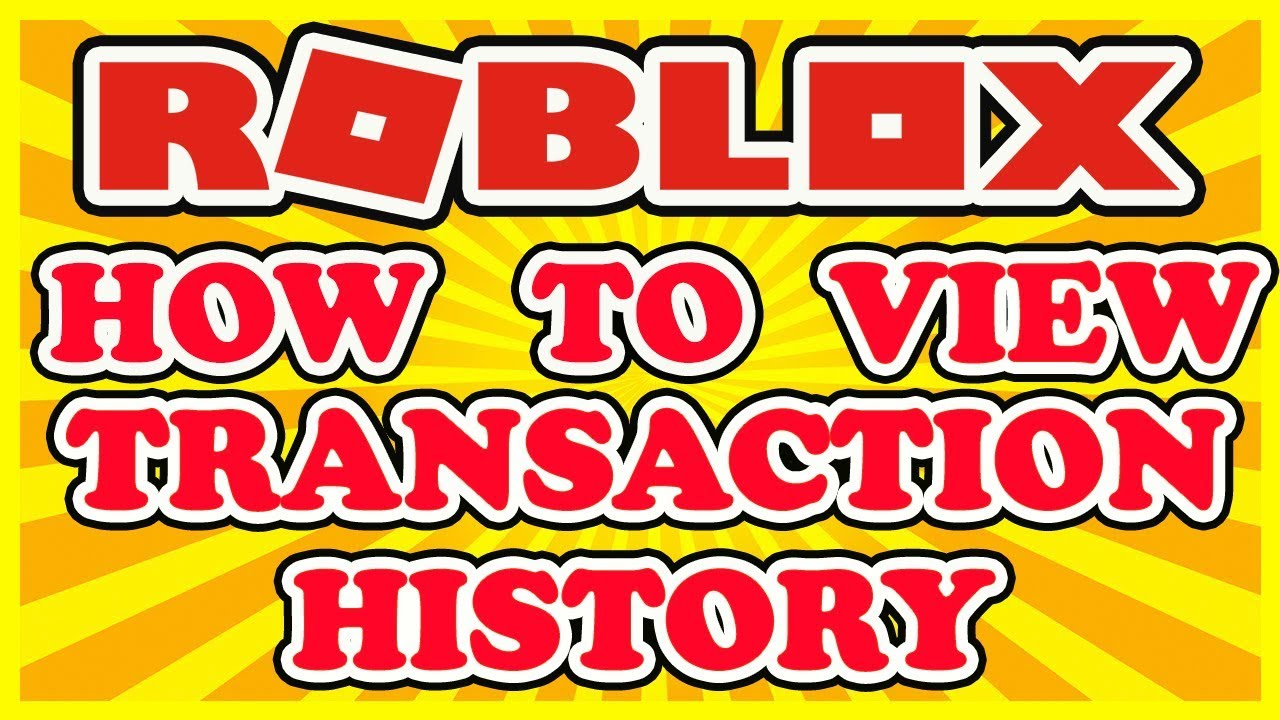 How To Find and View Your Transaction History on Roblox - View Automatic  VIP Server Charges!
