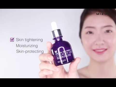 【韓國MIZON】膠原蛋白100保濕精華安瓶30ml | 使用示範
