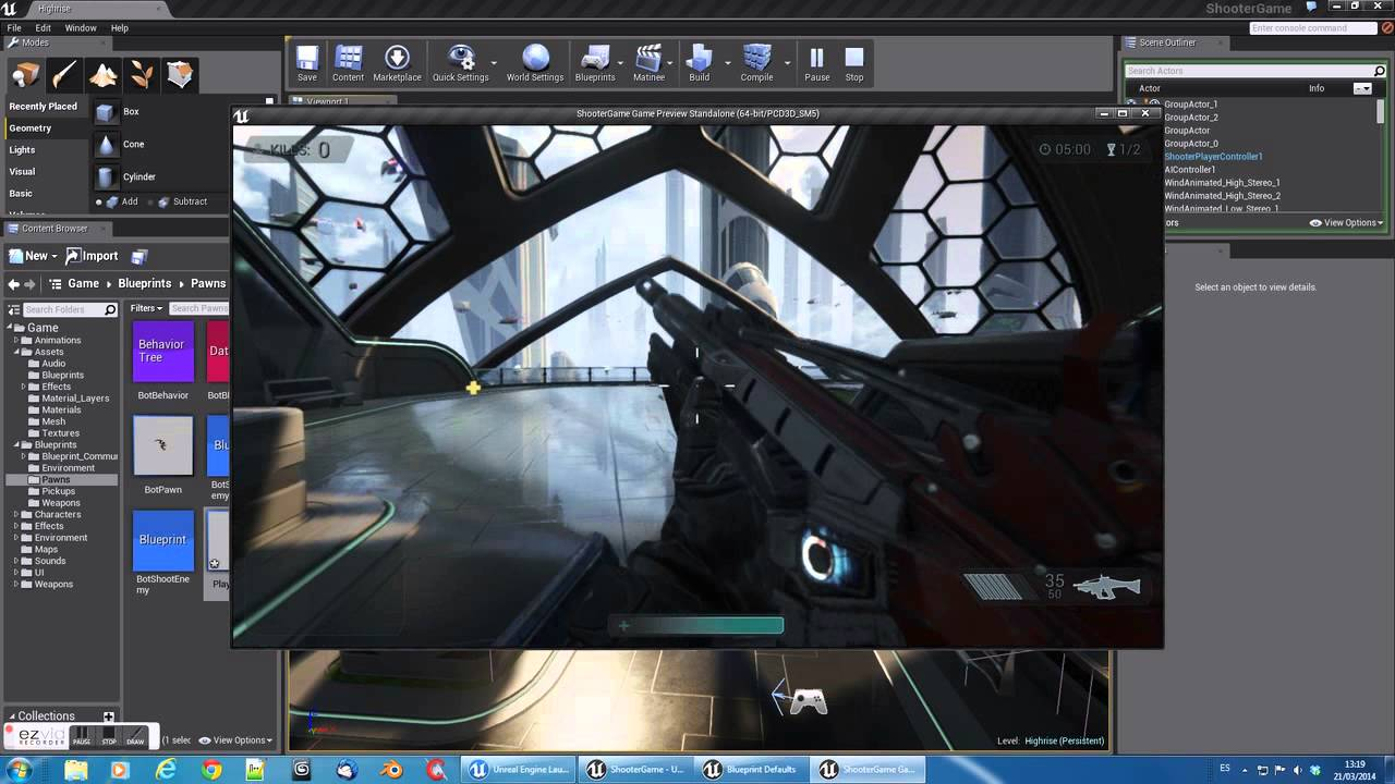 Fps first person shooter scene 31 7