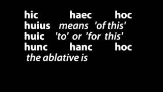 Hic Haec Hoc Song
