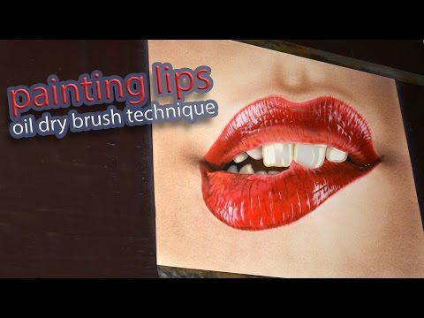 Painting of sweet lips with a little 3D effect