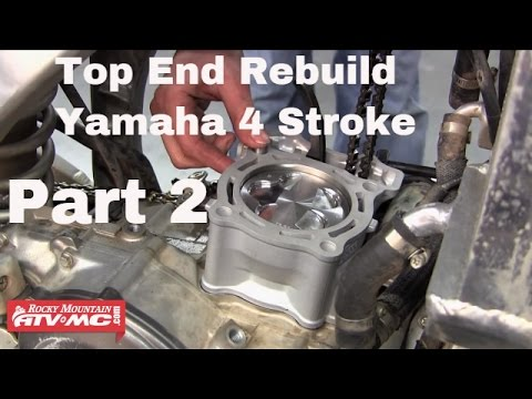 Motorcycle Top End Rebuild on Yamaha Four Stroke (Part 2 of 2)