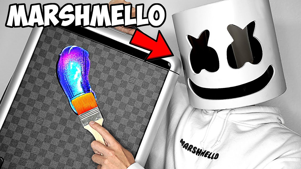 Surprising Marshmello With $10,000 Custom Louis Vuitton Bags!! 💼🎒 ft. Tik Tok (Giveaway)