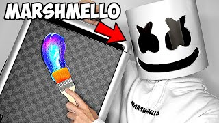 Surprising Marshmello With $10,000 Custom Louis Vuitton Bags!! 💼🎒 ft. Tik Tok (Giveaway) | ZHC