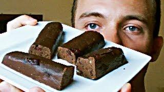 Beste selbstgemachte Proteinriegel (Double-Chocolate, Mandel, Cranberry)
