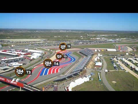 A Bird's Eye View Of The Circuit Of The Americas | US Grand Prix 2016