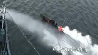 February 16, 2012 Sea Shepherd Zodiac's Attack Yushin Maru # 3