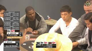 Brian and Destin both make huge moves with $32,000 on the line! ♠ Live at the Bike!