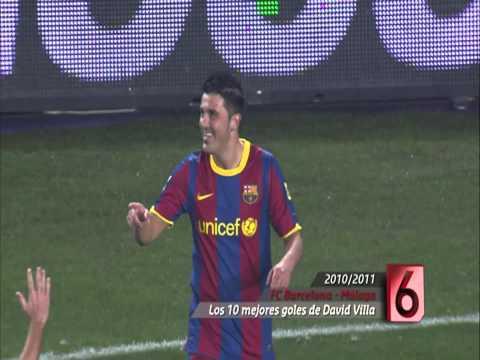 Los diez mejores goles de David Villa con el FC Barcelona