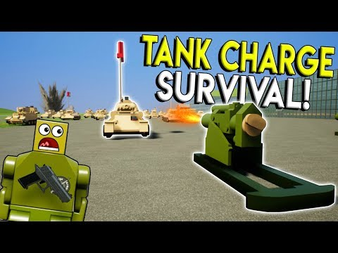 LEGO TANK CHARGE SURVIVAL CHALLENGE! - Brick Rigs Gameplay Challenge - Lego Military Toy