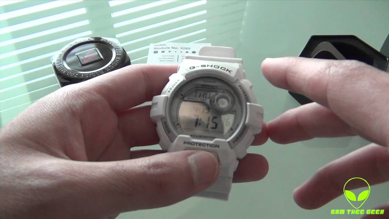 Casio G Shock White Digital Watch Unboxing G 8900A 7