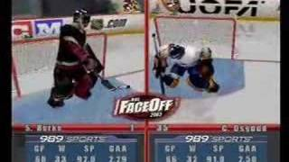 NHL Face Off 2003 Playstation 2 - Gameplay Video part 1 of 2