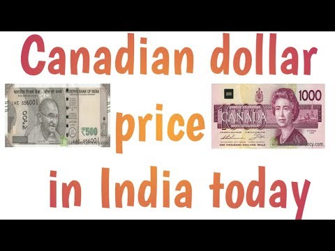 Canada Currency Rate In India Ll Cenedian Dollar Price In India Ll Cad Vs Inr