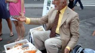 "Joseph Ades, aka ""Peeler Man"" in Union Square, NYC"