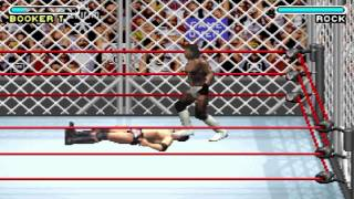 WWE Road To Wrestlemania X8 - Hardcore Championship With Booker T (Game Boy Advance)