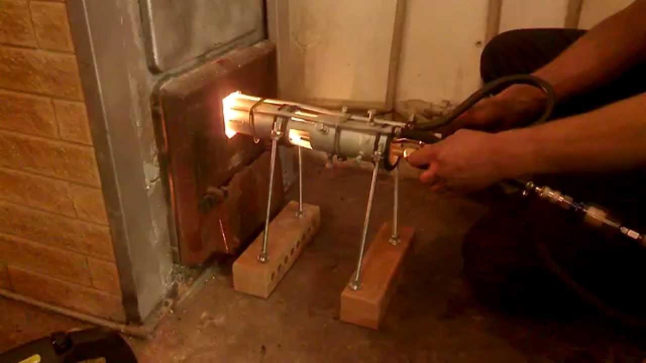 Самодельная печь на отработанном масле 8-9 кВт - YouTube