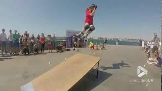 Skate ramp flip fail || Viral Video UK