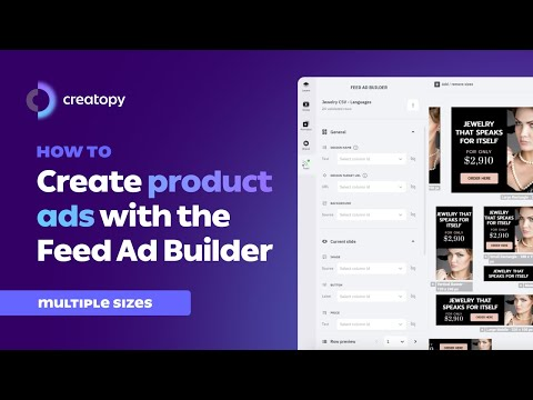 How To Create Product Ads with the Feed Ad Builder (Multiple Sizes)