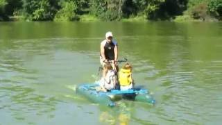 Велокатамаран. Водный велосипед.(Велокатамаранов много, а своими руками - лучше!, 2016-11-21T17:49:30.000Z)