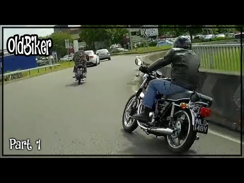 Old Biker in the English Countryside - Classic British Motorcycles - Part 1