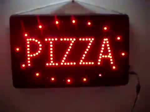 Cartel De Leds Modelo Quot Pizza Quot Grafiya Publicidad