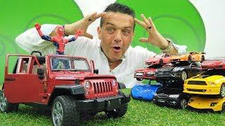 coches-de-juguete-un-coche-nuevo-para-el-hombre-ara-a