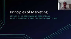 Principles of Marketing Lesson 1 #1 | Customer Value in the Marketplace